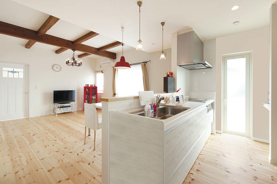 ヨーロッパに佇むような家 キッチン