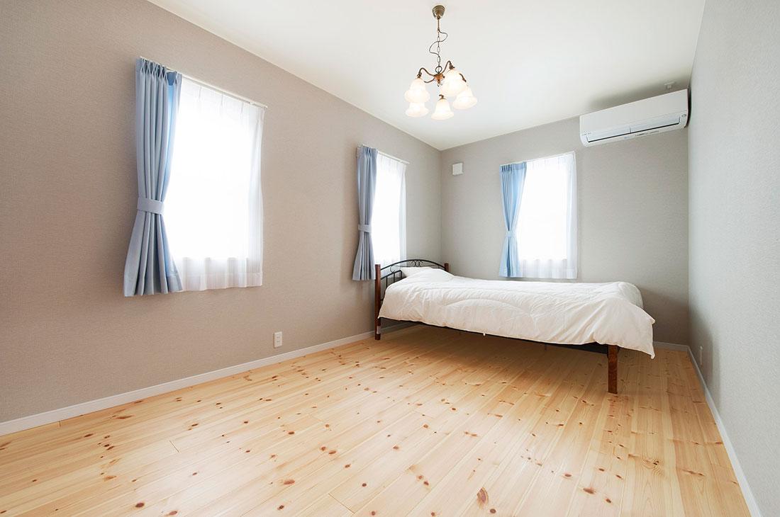 ヨーロッパに佇むような家 寝室
