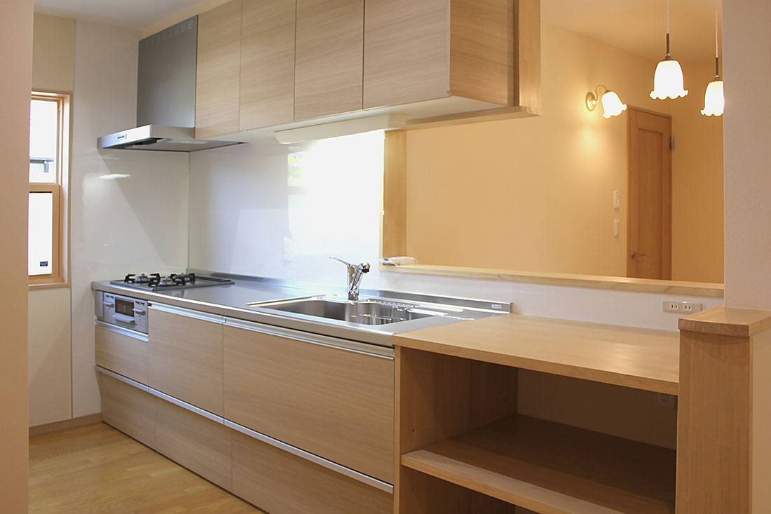 M様邸 施工後のキッチン
