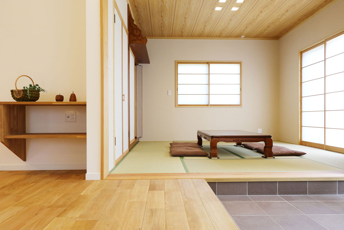 naturalstyleの平屋建ての和室。酒田鶴岡で新築&デザイン住宅・リノベーションを手がける工務店 ナチュラル工房