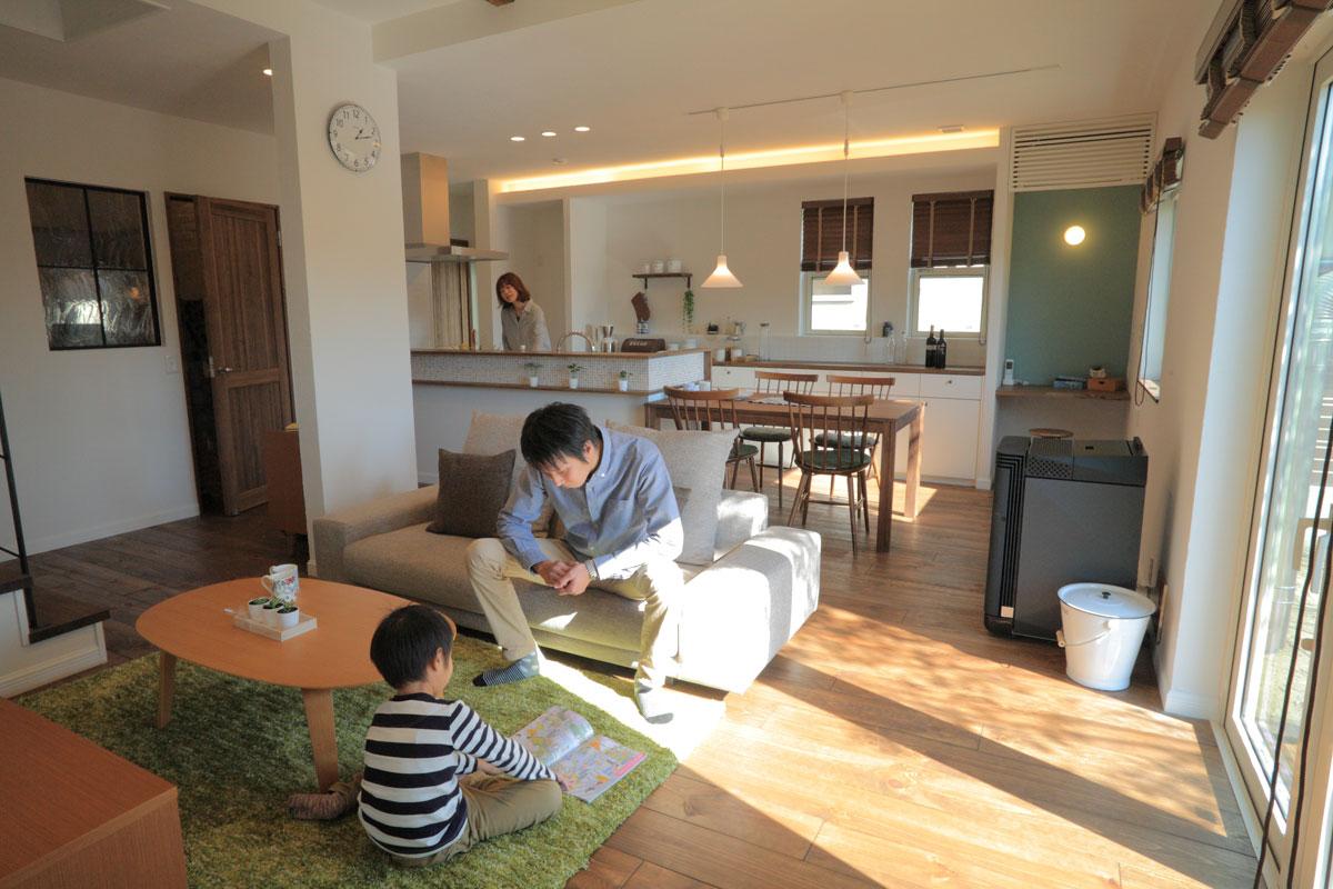 growの家のリビング【酒田鶴岡で新築、デザイン住宅、リノベーションの工務店 ナチュラル工房伊藤住宅】