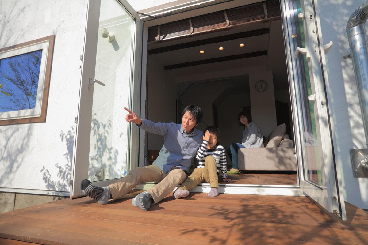 growの家のウッドデッキ【酒田鶴岡で新築、デザイン住宅、リノベーションの工務店 ナチュラル工房伊藤住宅】
