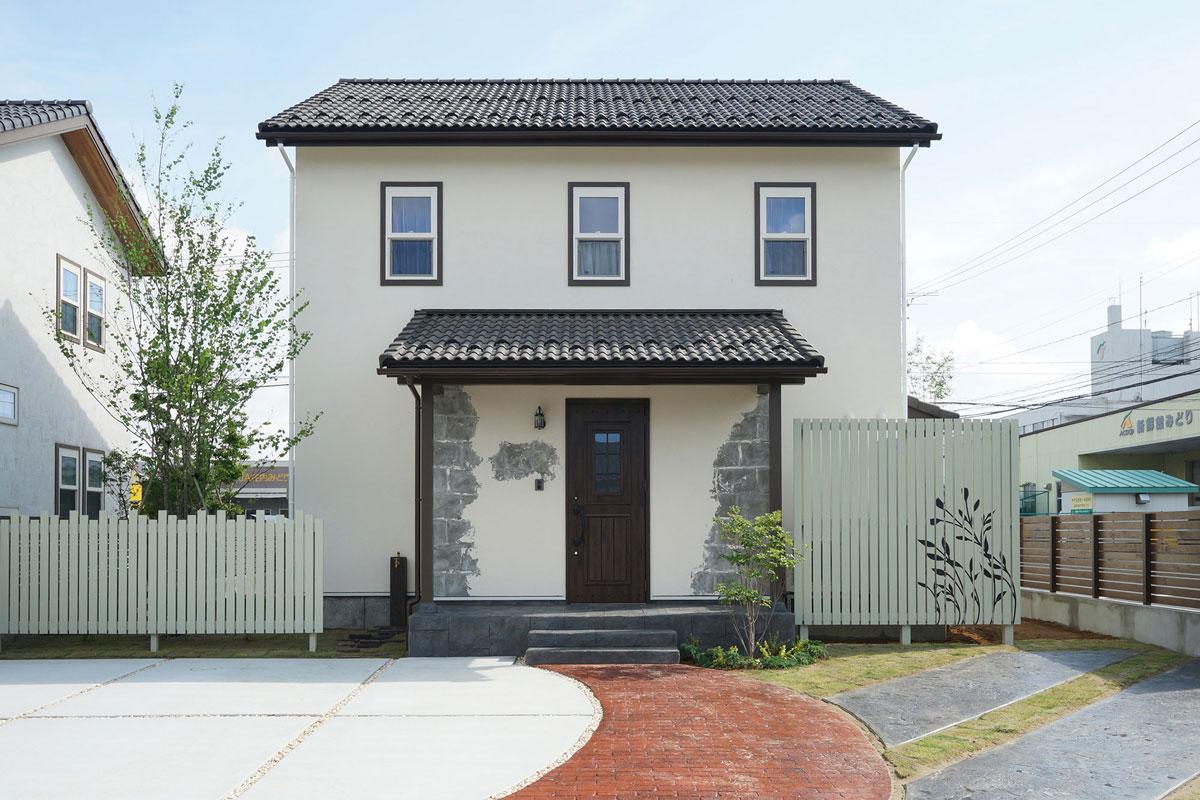 シャビーシックなフレンチスタイルのMamanの家。34Nタイプ。【酒田鶴岡で新築、デザイン住宅、リノベーションの工務店 ナチュラル工房伊藤住宅】
