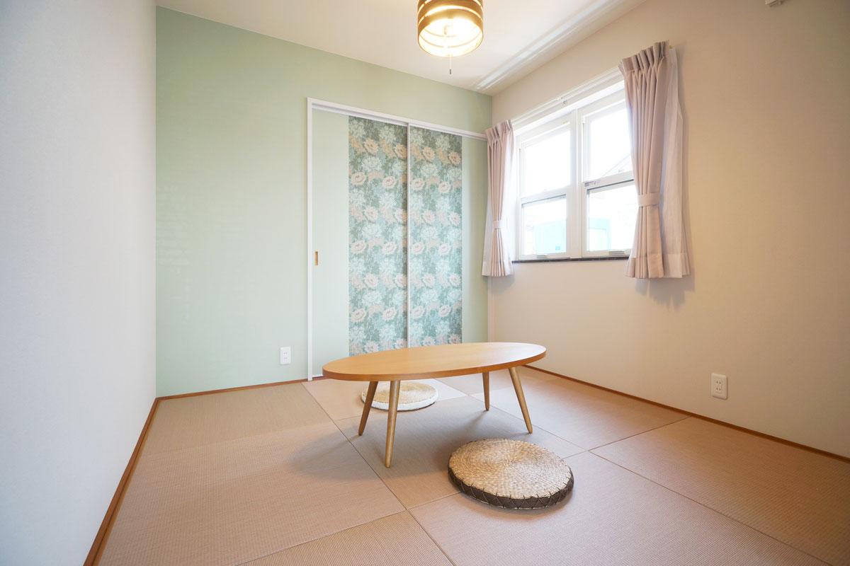 シャビーシックなフレンチスタイルのMamanの家。34Nタイプ。和室【酒田鶴岡で新築、デザイン住宅、リノベーションの工務店 ナチュラル工房伊藤住宅】