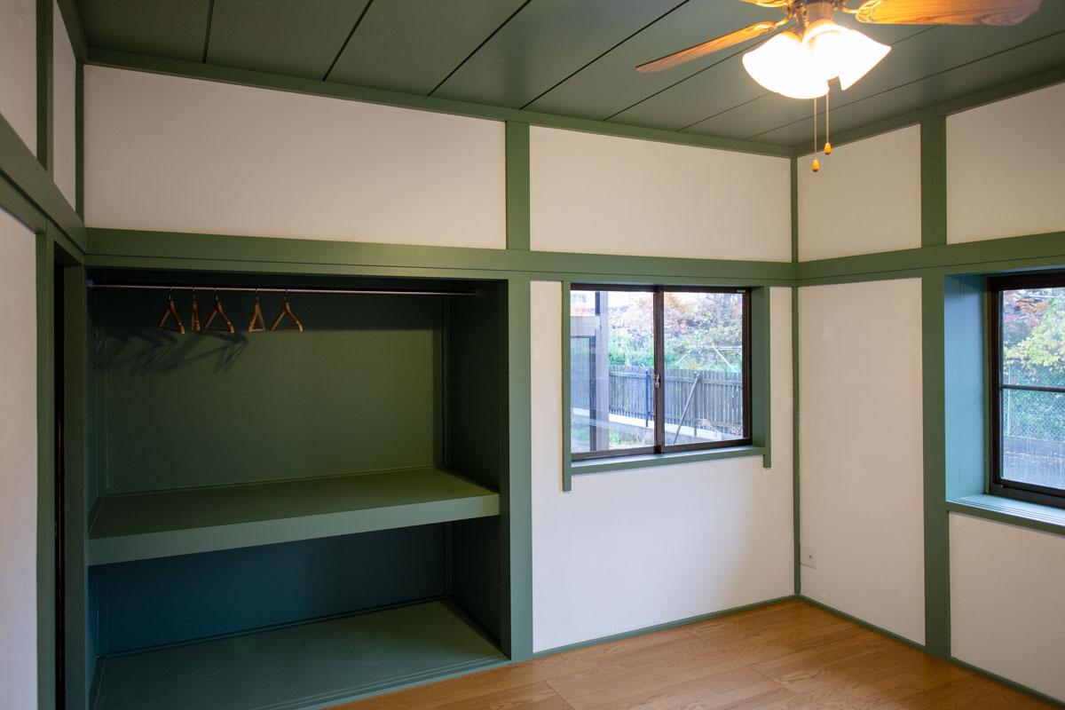 寝室。平屋をリノベーションしたビリヤードルームとビルトインガレージのあるかっこいいお家。【酒田鶴岡で新築、デザイン住宅、リノベーションの工務店 ナチュラル工房伊藤住宅】