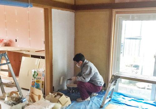 酒田市の平屋リノベーションのお家でペイント体験