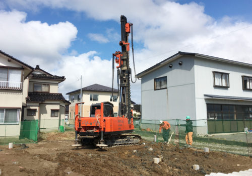 地盤改良工事の様子