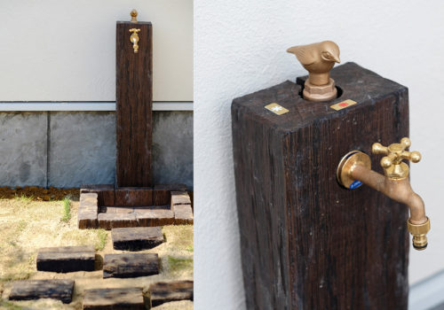 Maman/ママンの外観とも相性の良い外水栓のデザイン事例