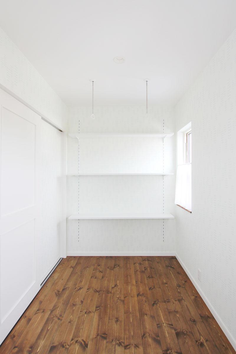 室内の物干しスペースとして活用