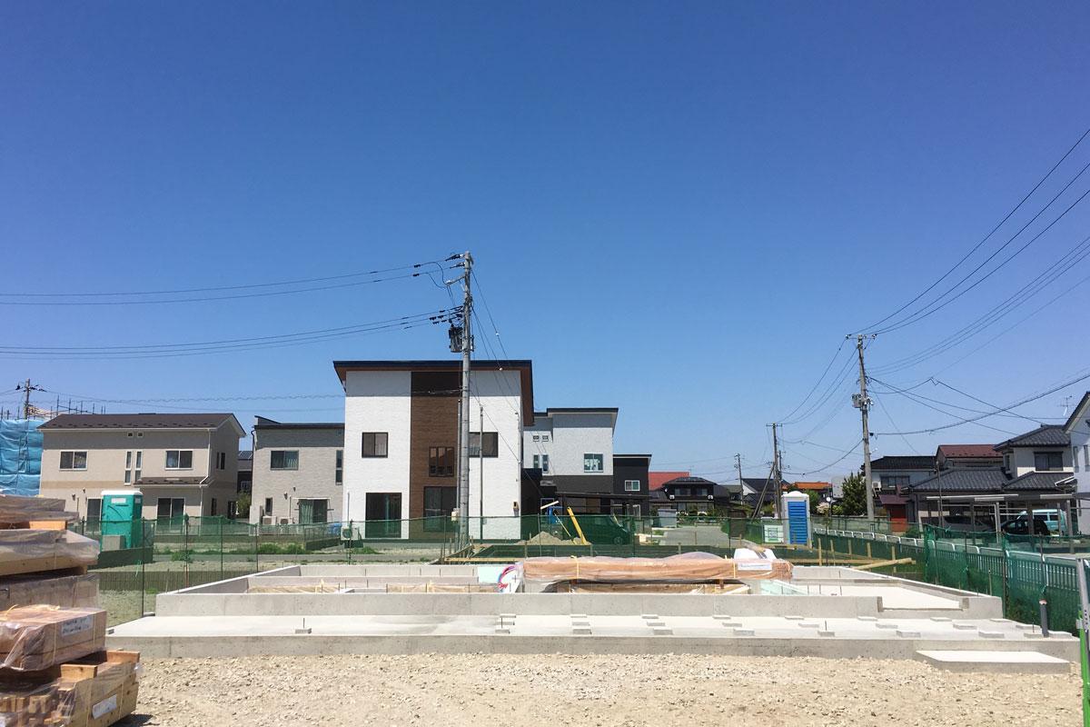 新モデルハウスの基礎部分