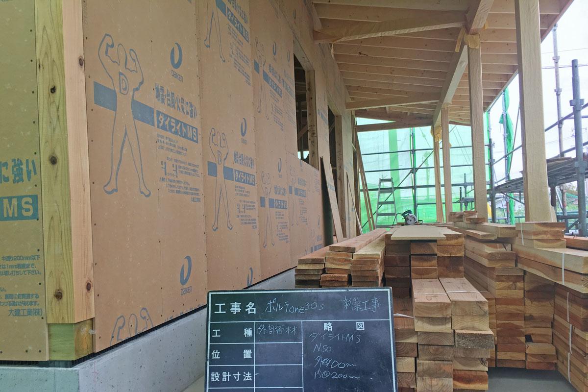 木造軸組に面材を組み合わせた強固な作り