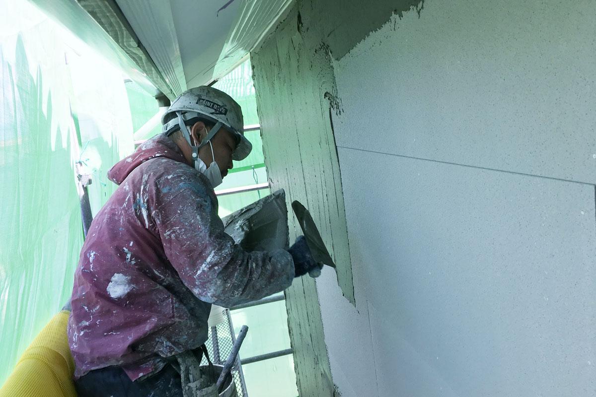 職人によるSto塗り壁工法