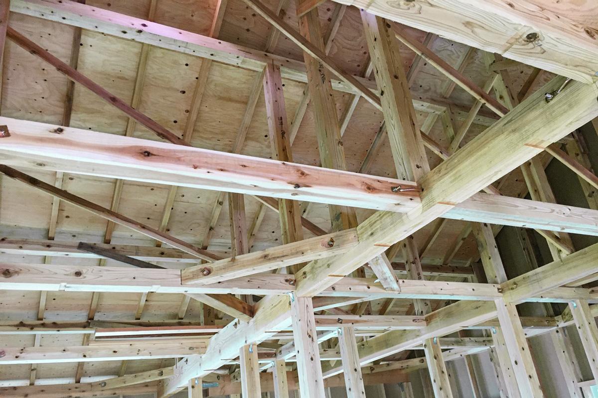 木造軸組工法の美しい仕上がり