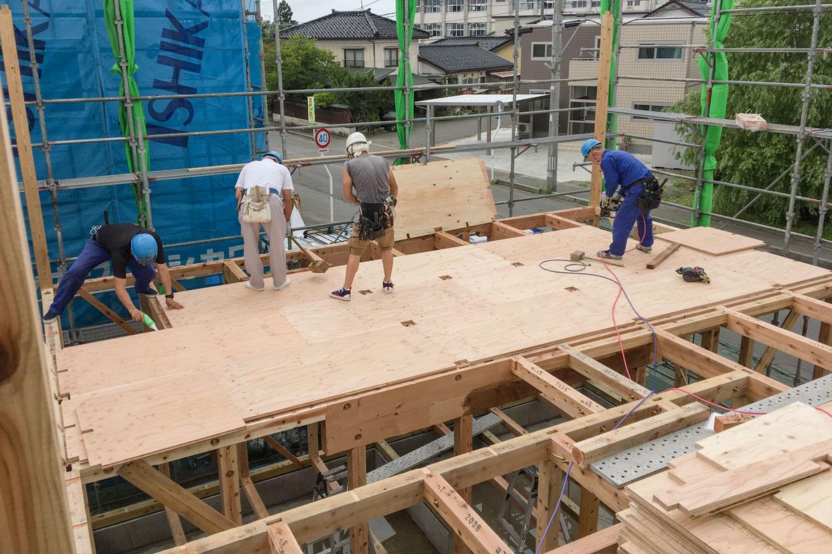 腕の良い職人による木造軸組工法