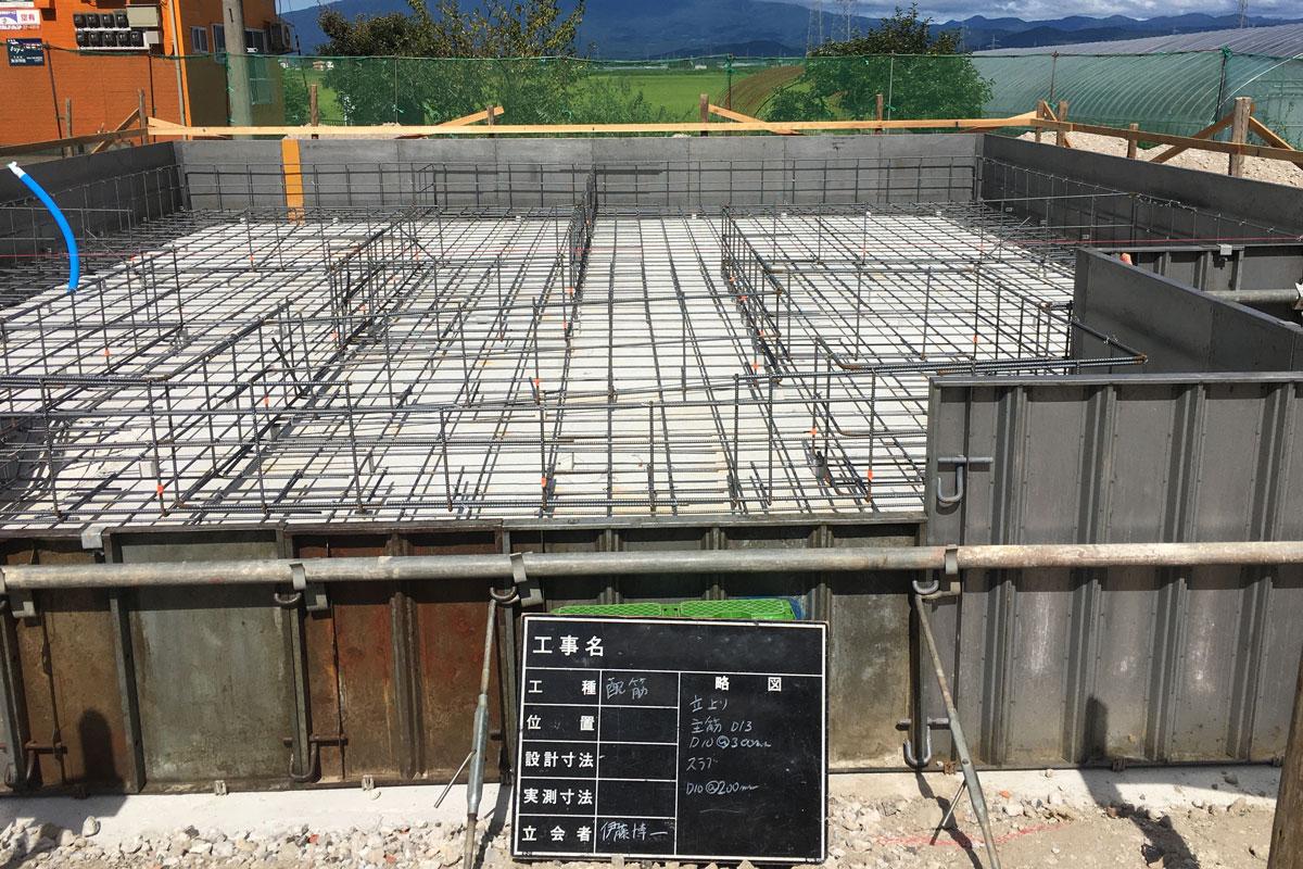 コンクリート強度に重要な正確な配筋工事