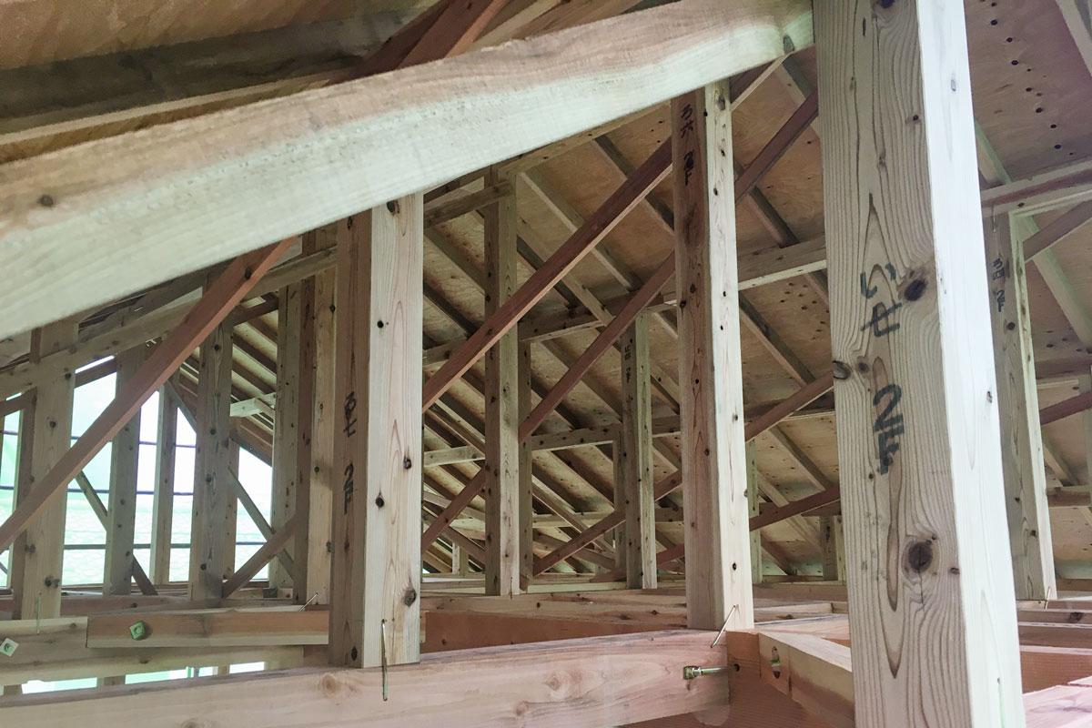 ママンの木工事内部の様子