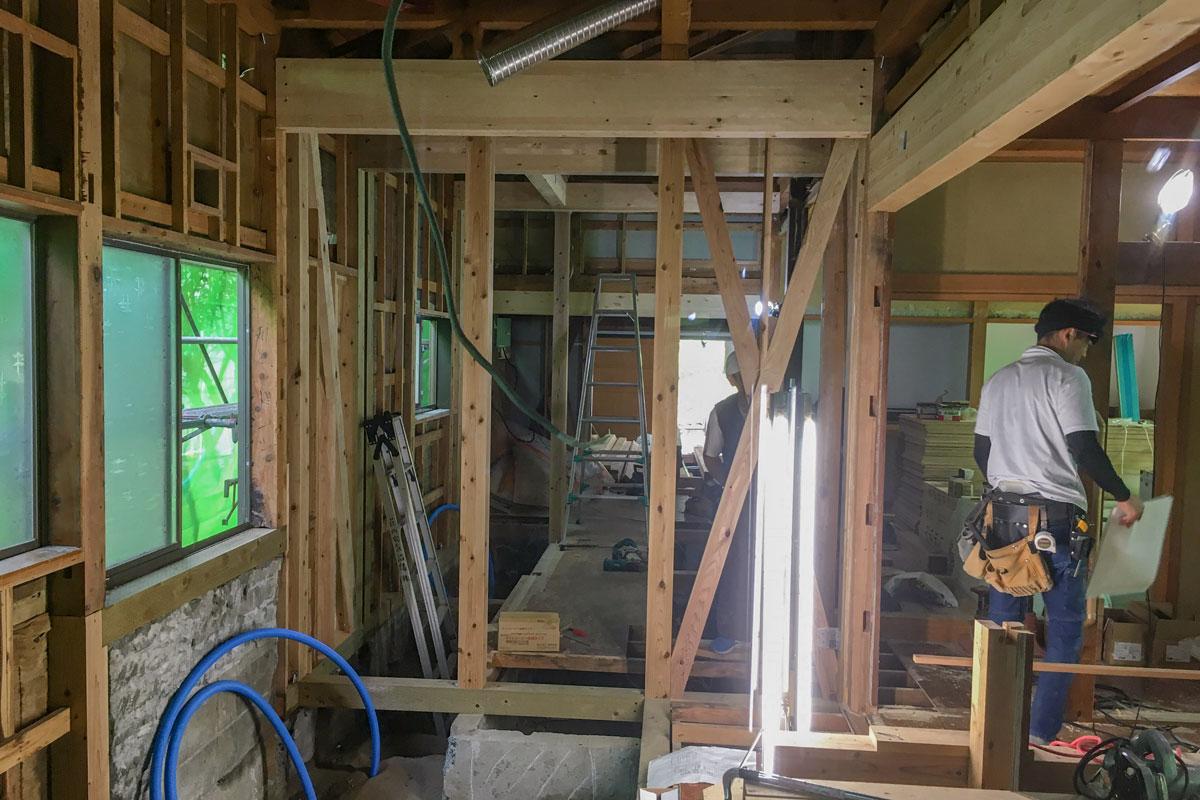 戸建リノベーションで梁や柱を新しく