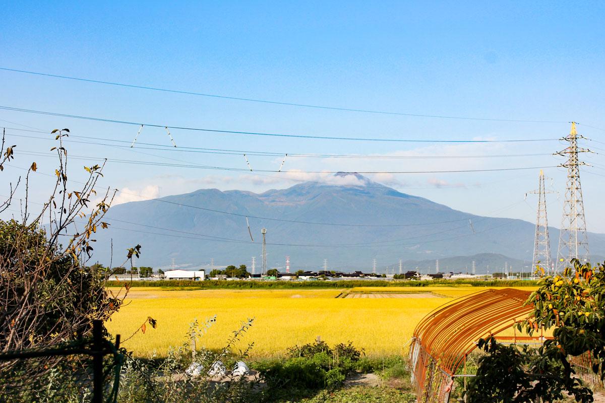 鳥海山の眺めが綺麗なママンのお家
