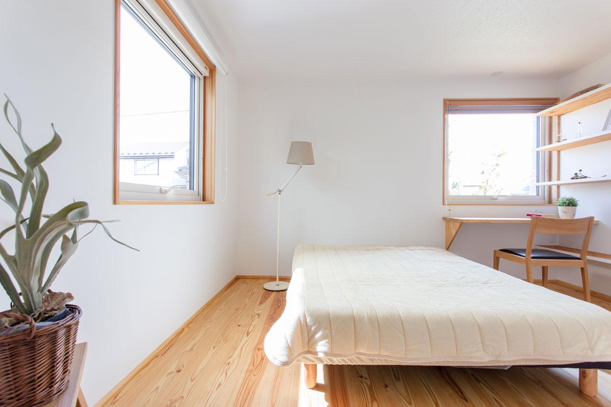快適な空気に包まれる寝室
