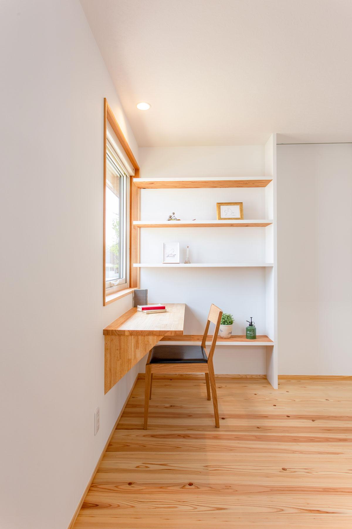 リモートワークや読書の書斎スペース
