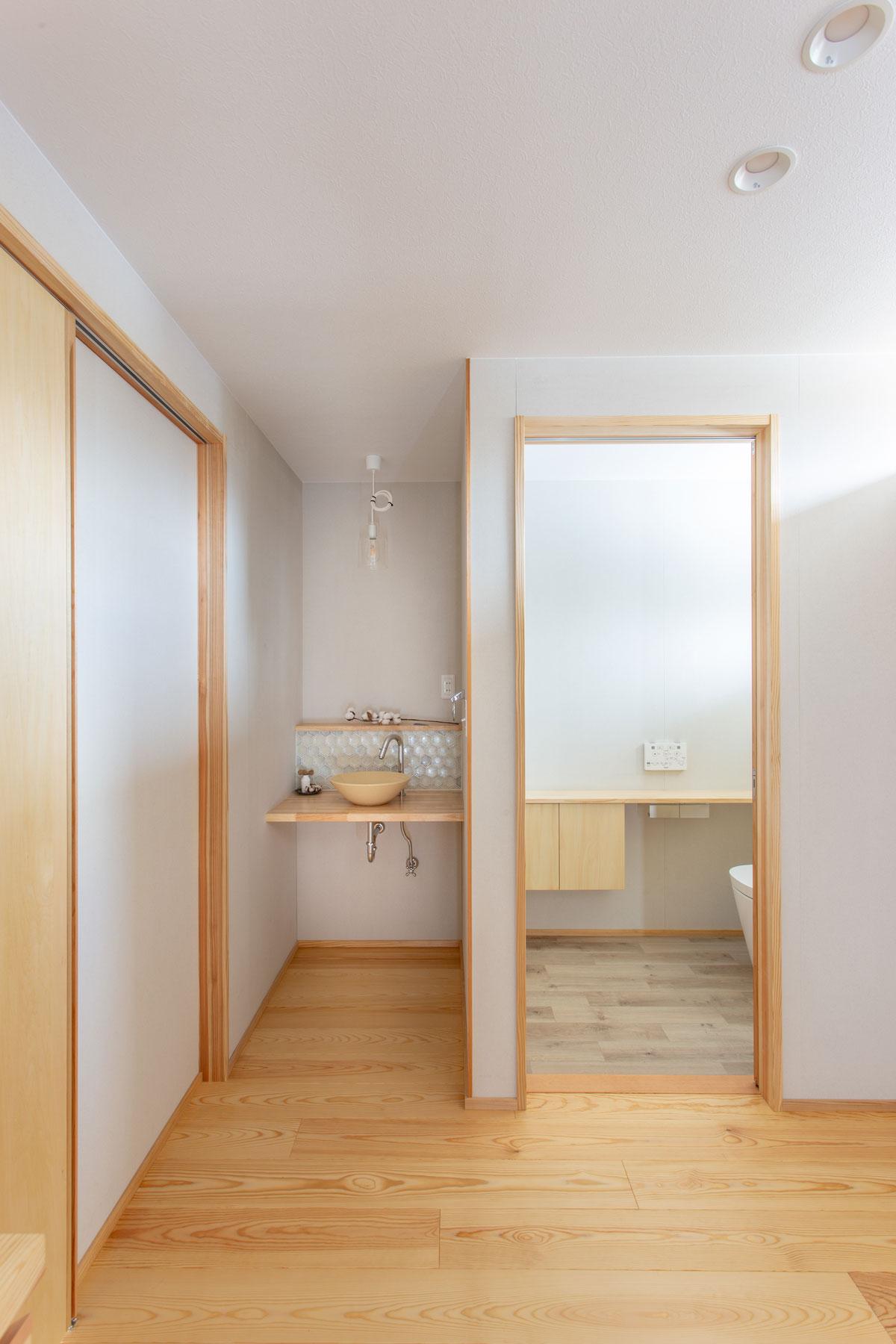 使い勝手の良い導線のトイレ