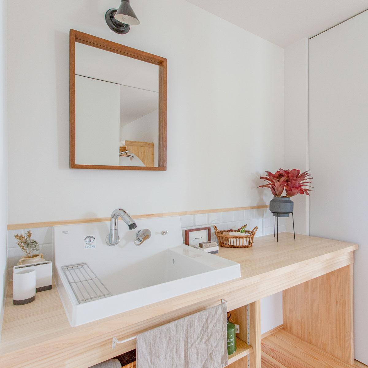 使い勝手の良いおしゃれな洗面スペース