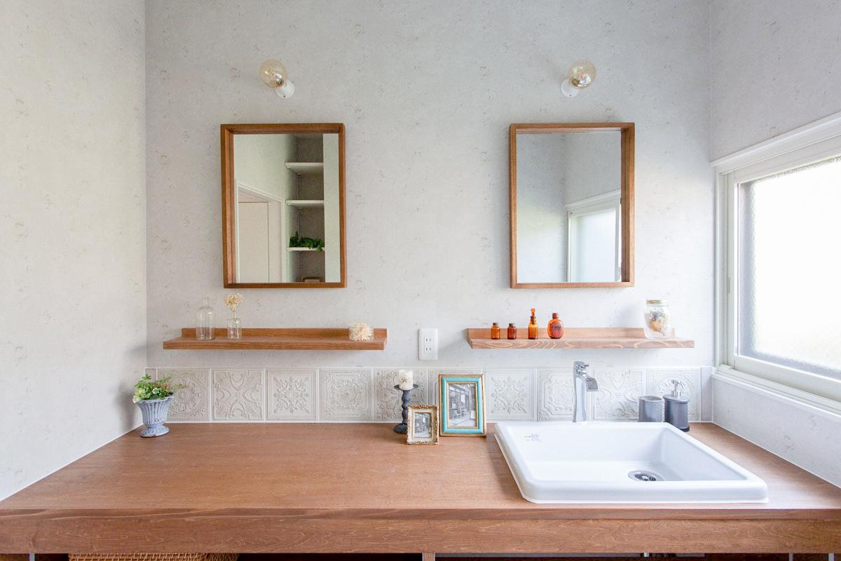 オリジナルのかわいい洗面台
