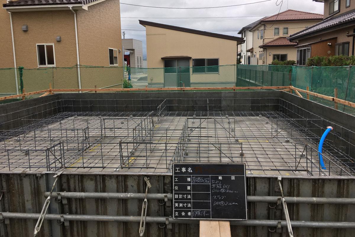 コンクリート強度を確保する正確な配筋工事