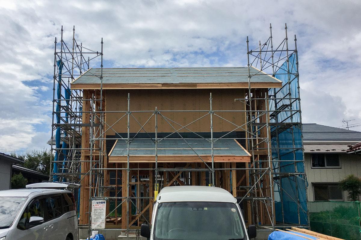 ママンの家の骨組みが完成